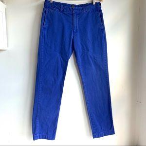 J crew royal blue cotton chinos size 32 GUC